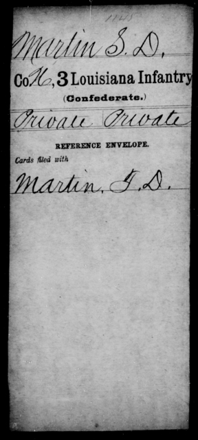 Martin, S D - Age [Blank], Year: [Blank] - Roll Military Unit, L - Mo - Louisiana
