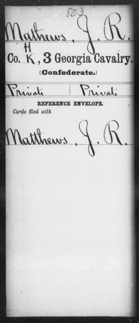 Mathews, J R - 3d Cavalry