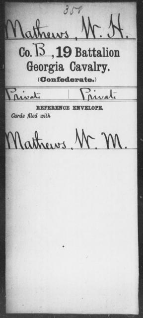 Mathews, W H - 19th Battalion, Cavalry