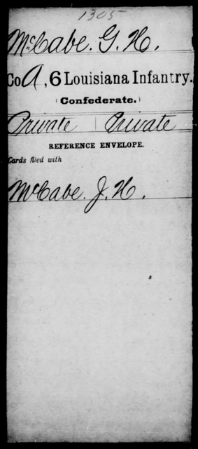 McCabe, G H - Age [Blank], Year: [Blank] - C, Lo - Me - Louisiana