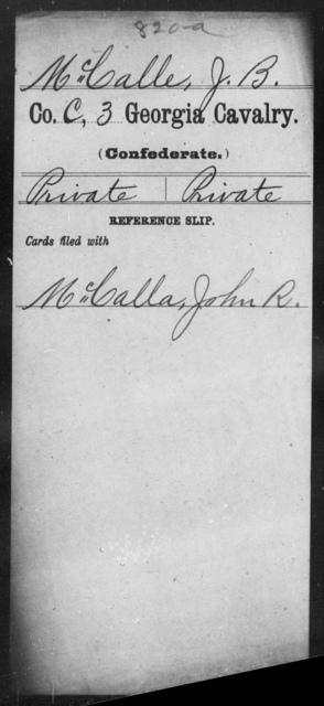 McCalle, J B - 3d Cavalry