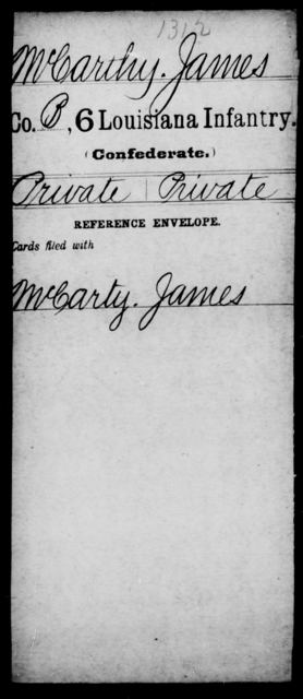McCarthy, James - Age [Blank], Year: [Blank] - C, Lo - Me - Louisiana
