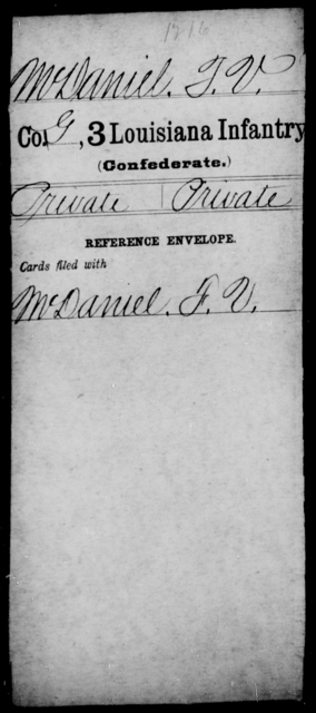 McDaniel, J V - Age [Blank], Year: [Blank] - Roll Military Unit, L - Mo - Louisiana