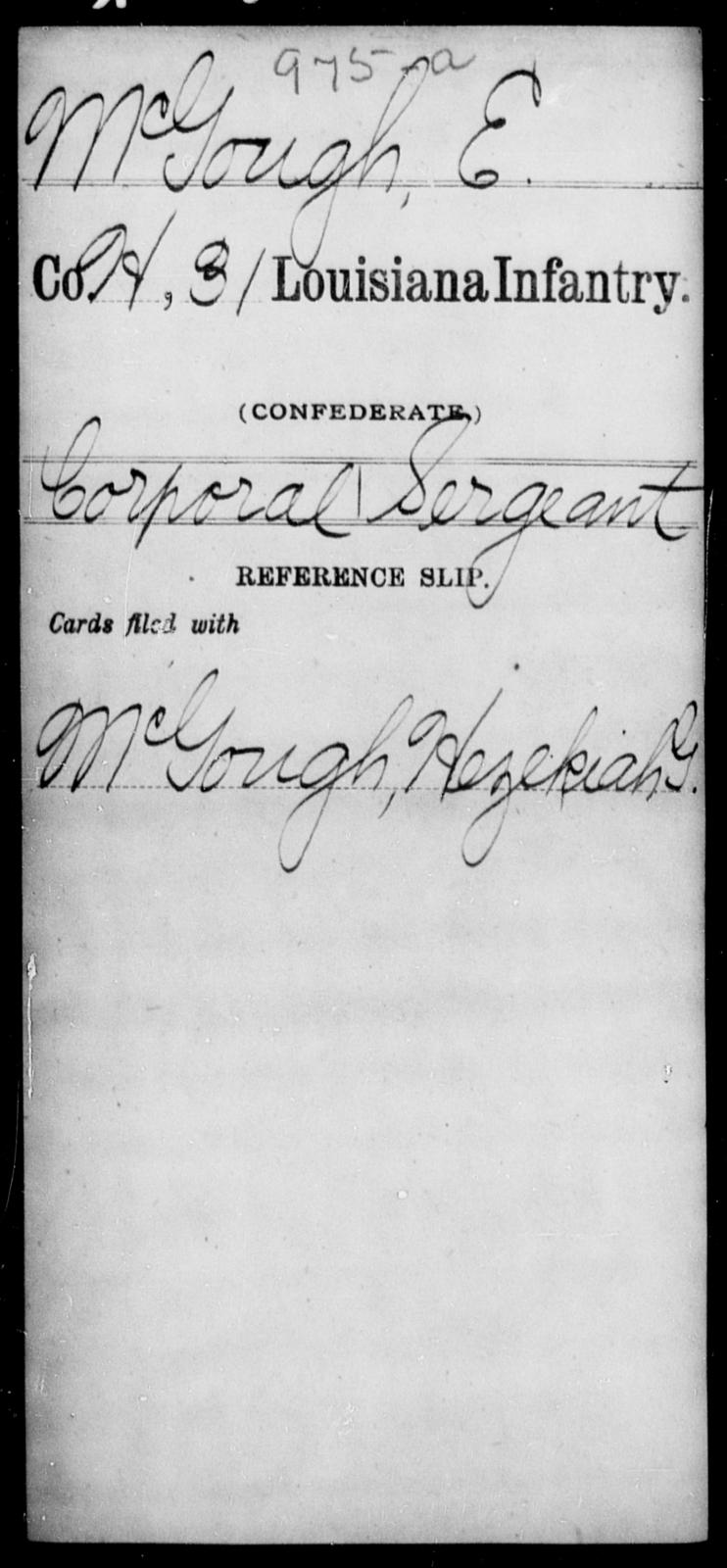 McGough, E - Age [Blank], Year: [Blank] - Roll Military Unit, M - P - Louisiana