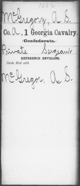 McGregory, A S - 1st Cavalry