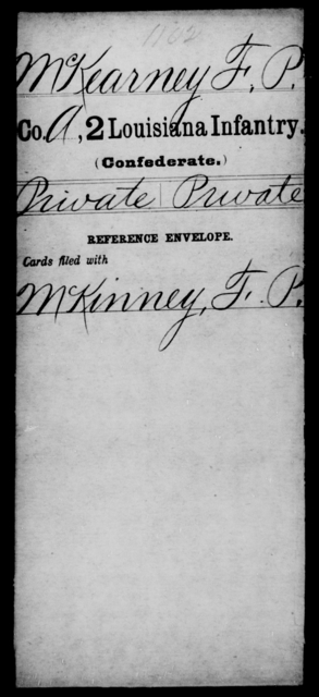 McKearney, F P - Age [Blank], Year: [Blank] - M - Louisiana