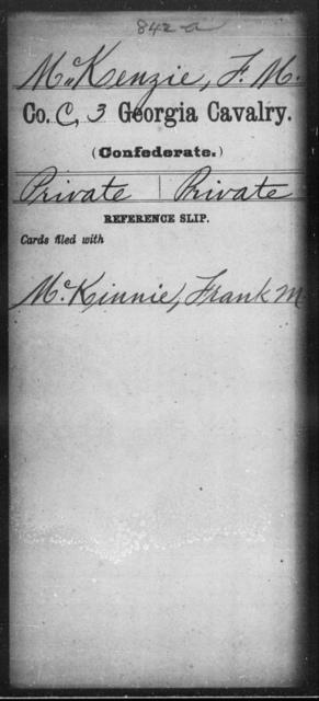 McKenzie, F M - 3d Cavalry