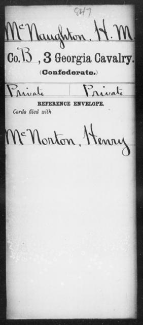 McNaughton, H M - 3d Cavalry
