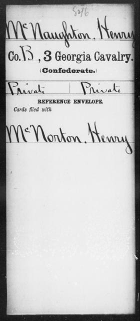 McNaughton, Henry - 3d Cavalry