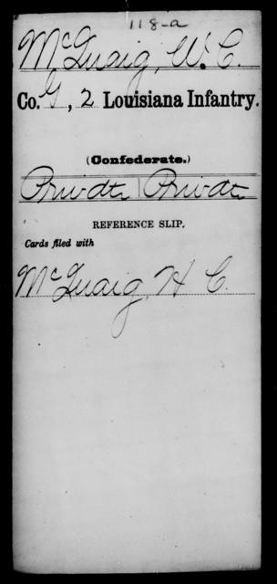 McQuaig, W C - Age [Blank], Year: [Blank] - M - Louisiana