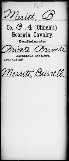Meritt, B - 4th (Clinch's) Cavalry