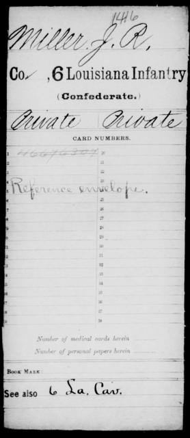 Miller, J R - Age [Blank], Year: [Blank] - C, Mi - O - Louisiana