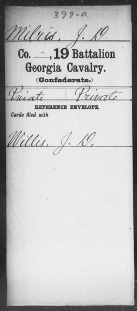 Milris, J D - 19th Battalion, Cavalry