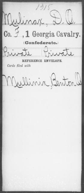 Mulinax, D O - 1st Cavalry