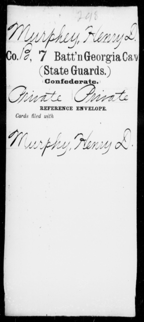 Murphey, Henry D - 7th Battalion, Cavalry (State Guards)
