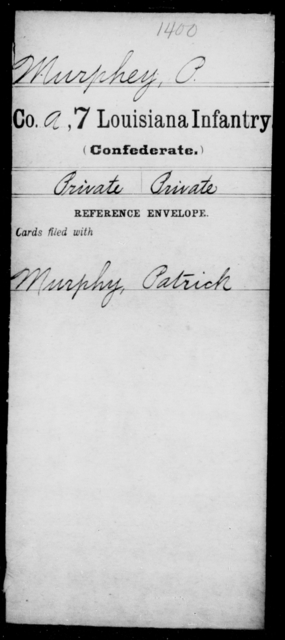 Murphey, P - Age [Blank], Year: [Blank] - Seventh Infantry, Mu - Re - Louisiana