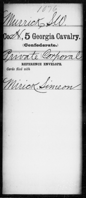 Murrick, S W - 5th Cavalry