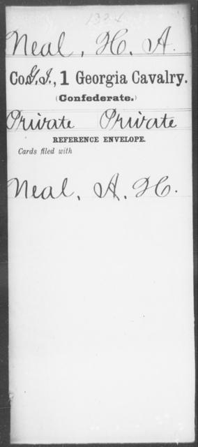 Neal, H A - 1st Cavalry