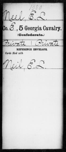 Neel, E L - 5th Cavalry