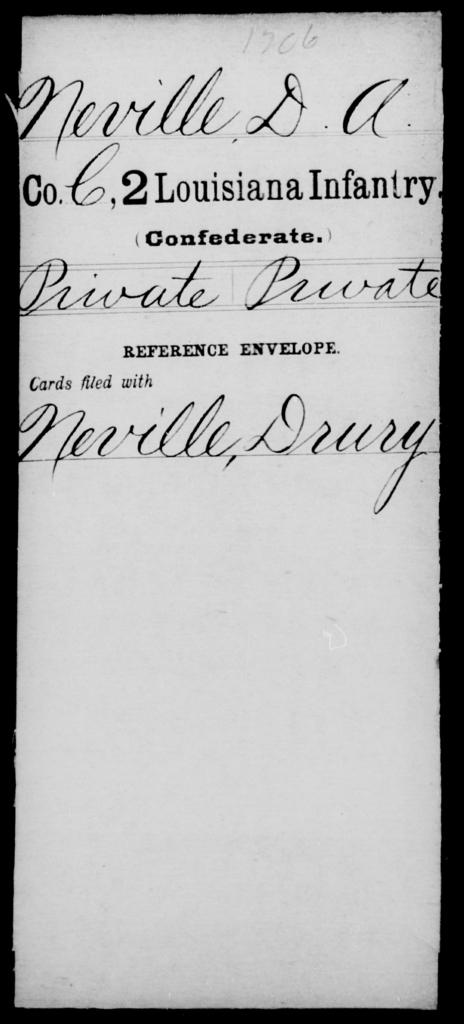 Neville, D A - Age [Blank], Year: [Blank] - M, N - Rh - Louisiana