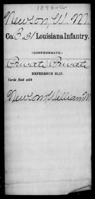 Newson, W M - Age [Blank], Year: [Blank] - Roll Military Unit, M - P - Louisiana