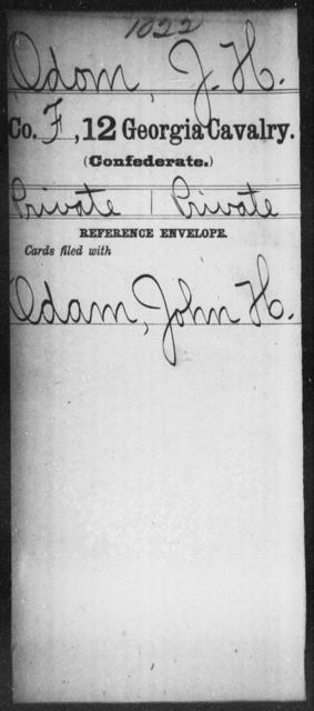 Odom, J H - 12th Cavalry