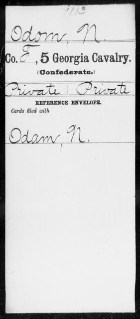 Odom, N - 5th Cavalry