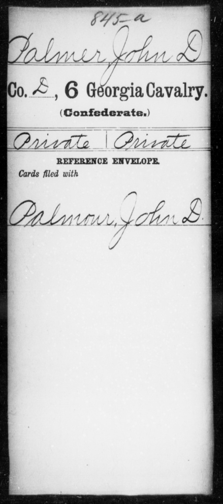Palmer, John D - 6th Cavalry AND 6th Battalion, Cavalry (State Guards)