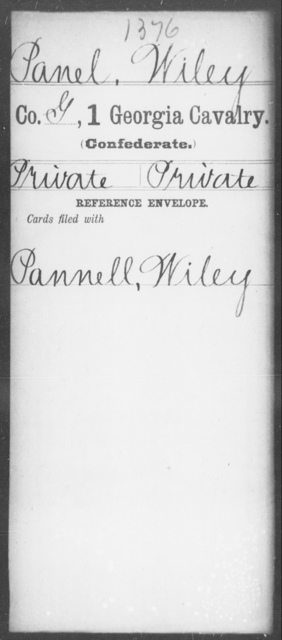 Panel, Wiley - 1st Cavalry