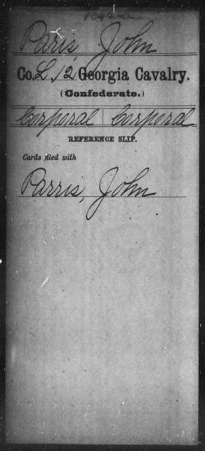 Paris, John - 12th Cavalry