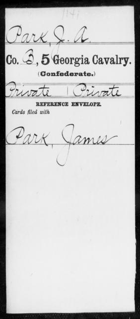 Park, J A - 5th Cavalry