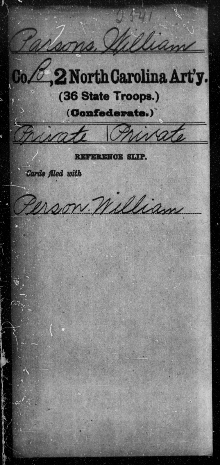 Parsons, William - Second Artillery (36th State Troops)