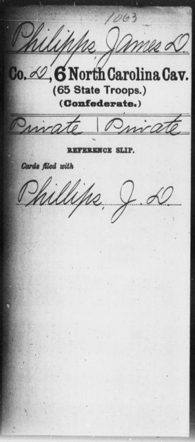 Philipps, James D - Sixth Cavalry (65th State Troops)