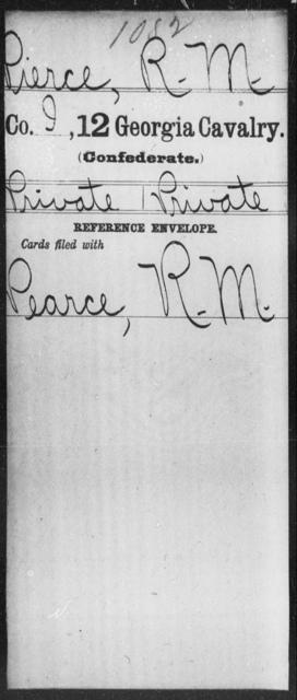 Pierce, R M - 12th Cavalry