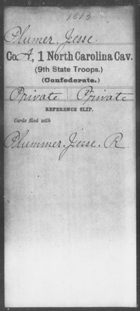 Plumer, Jesse - First Cavalry (Ninth State Troops)