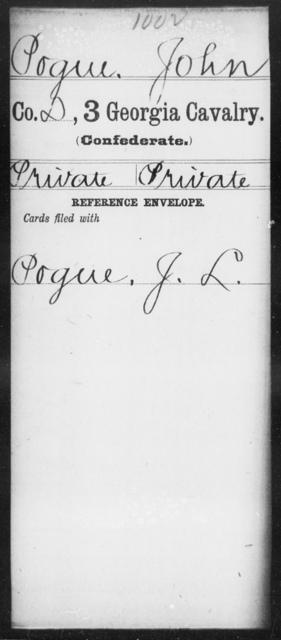 Pogue, John - 3d Cavalry