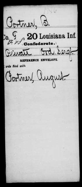 Portner, B - Age [Blank], Year: [Blank] - Twentieth Infantry, Mu - Ro - Louisiana
