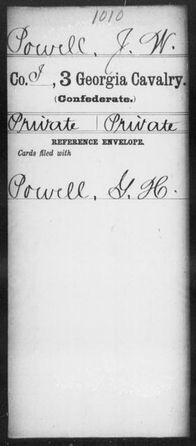 Powell, J W - 3d Cavalry