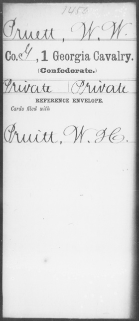Pruett, W W - 1st Cavalry