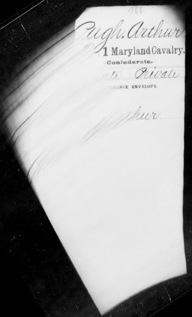 Pugh, Arthur - Age 18, Year: 1863 - First Cavalry, Lo-Q - Maryland