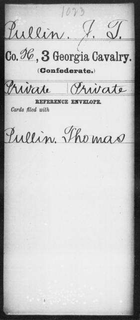Pullin, J T - 3d Cavalry