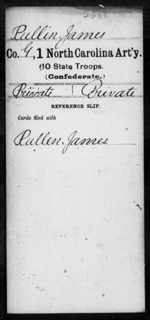 Pullin, James - First Artillery (10th State Troops)