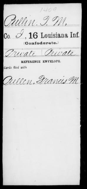 Pullin, T M - Age [Blank], Year: [Blank] - Sixteenth Infantry, Mo - Re - Louisiana