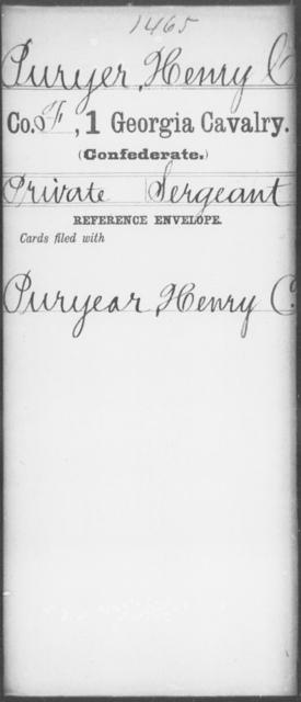 Puryear, Henry C - 1st Cavalry