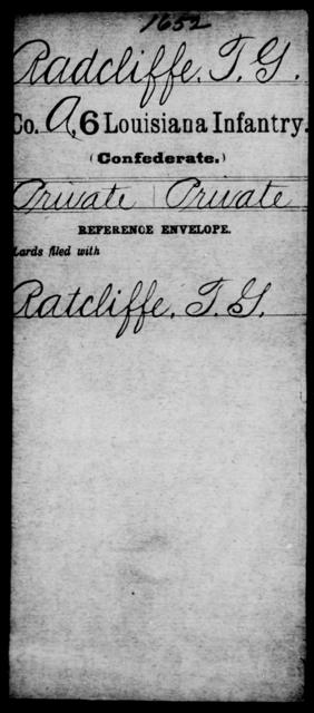 Radcliffe, T G - Age [Blank], Year: [Blank] - C, P - R - Louisiana