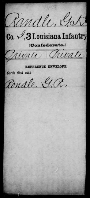 Randle, G K - Age [Blank], Year: [Blank] - Roll Military Unit, Mu - R - Louisiana