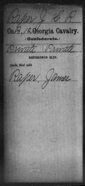 Raper, J H R - 12th Cavalry