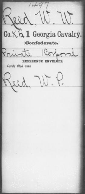 Reed, W W - 1st Cavalry