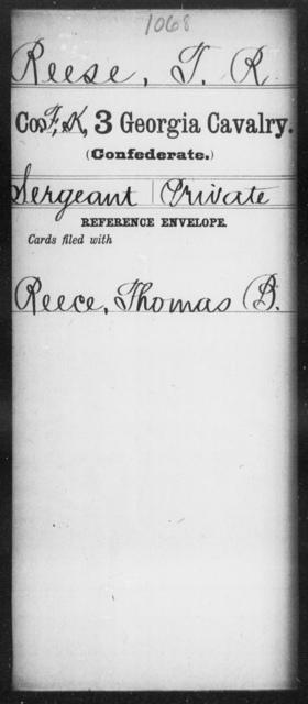 Reese, T R - 3d Cavalry