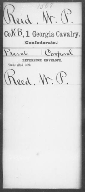 Reid, W P - 1st Cavalry